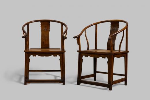 huanghuali horseshoe armchairs