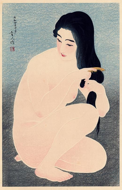 Utagawa Hiroshige (1797-1858). Japan, 1857. Japanese Color Woodblock Print.