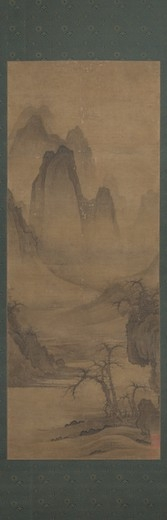 Li Gongnian (active early 12th century). Winter Evening Landscape, China, ca. 1120. Hanging scroll; ink and light colors. 51 x 19 in. (129.6 x 48.3 cm).