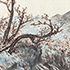 GO Hui-Dong (1886-1965). Autumn Landscape, 1956. Ink and color on paper. 16 1/8 x 26 inches (41 x 66 cm).