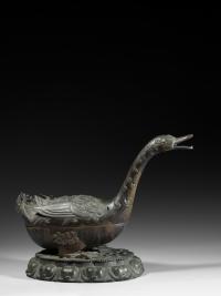 JJLally Bronze Goose Incense Burner